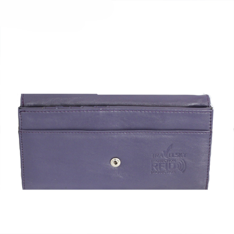 13587B PU Women Long Wallet with Advanced RFID Secure