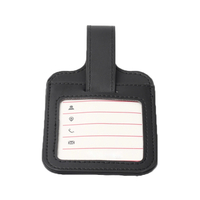 Black PU Luggage Tag