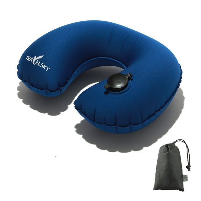 13406D New Inflatable Plane Travel Neck Support Travel Air Pillow