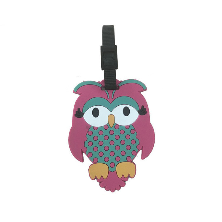 13120 Cartoon Rubber Luggage Tag