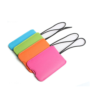 13138 Colored PU Luggage Tag