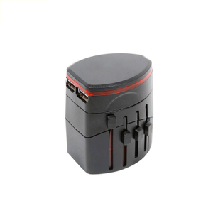 13684 All-in-one International Universal World Plug Travel Adapter with Usb