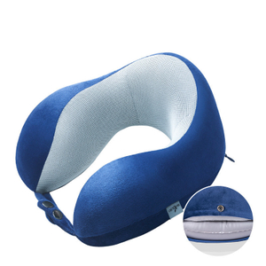 13482B Semi-inflated Half Memory Foam Inflatable Neck Pillow