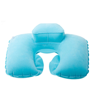 13471 Flocked Vinyl Inflatable Neck Pillow